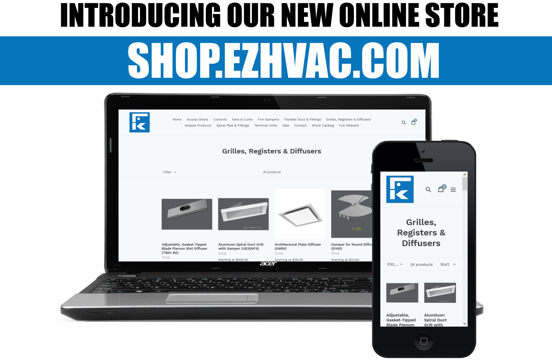 ed85e8432555e6 New Online Store Now Available at shop.ezhvac.com